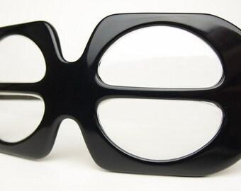 Vtg Zyloware Sunglasses Eyeglasses Frames Optical Eyewear Unique Extravagant Eccentric Mask Collectible Space Age Mid Century Modern Atomic