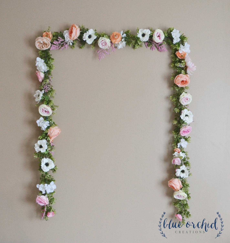 Flower Garlands For Weddings: Wedding Backdrop Flower Garland Flower Backdrop Silk Flower