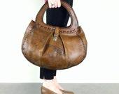 Leather Bag - Vintage Brown Boho Purse