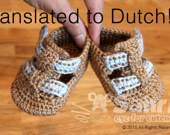 Translated to DUTCH!!! PATTERN Instant Download Baby Shoe Sandals Crochet Booties