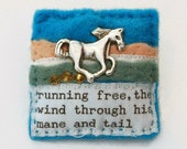 Horse brooch - equestrian gifts - equine - horse gifts - hand sewn gifts - gifts for horse lovers