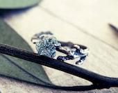 Twig ring, raw diamond engagement ring, raw diamond, rough diamond ring, twig diamond ring, engagement ring, elvish ring, promise ring
