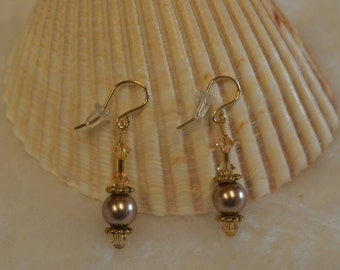 Swarovski Pearl Earrings from the South