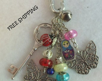 Purse Charms...Butterfiles         Whimsical...Adorable!!!           FREE SHIPPING        .  Item #153