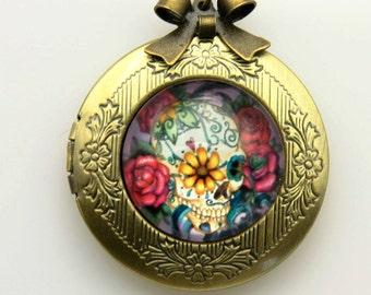 Necklace locket Crane Mexico 2020m