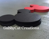 """Mickey Mouse 5"""" die cuts DIY banner, favor tags, centerpieces, decorations, cupcake toppers, food labels, invitation"""