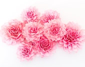 "10  3"" Fuchsia Wooden Flowers, Wedding Decorations, Wedding Flowers, Fuchsia Wedding"