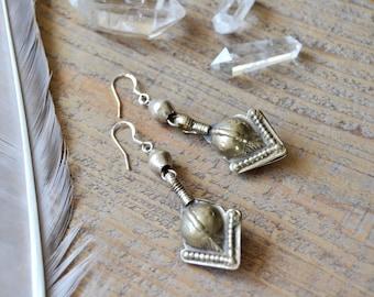 Sale / bohemian earrings - ethnic tribal boho jewelry - Kuchi earrings