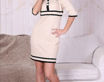 "Classic dress Chanel style dress ""Chanel #5"", suitable for ladies who are following the latest fashion trends."