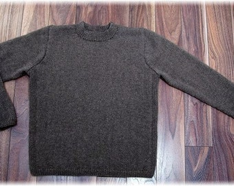 "Qiviut Sweater for men or women ""Mount Garibaldi"", hand knit (under down of muskox) in submariner style - MADE TO ORDER"
