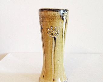 Vintage Studio Pottery Dandelion Wish Vase