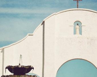 Southwest art, Southwestern decor, Spanish artwork, Tucson, Arizona, fine art photography - San Xavier Mission