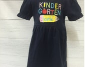 Girls Kindergarten Cutie Dress  Back to School, Gingham, Preschool, Kindergarten