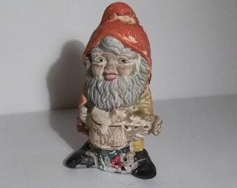 Vintage Ceramic gnome, ceramic elve,retro elf, retro pixie,garden gnome