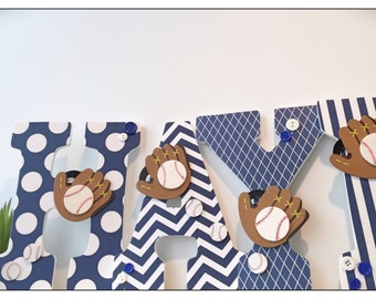 Baseball Nursery. Wood Letters. Nursery Letters. Bedroom Wood Letters. Sports Nursery. Navy. Chevron. Gray. Grey. Baby Shower. Baby Boy.