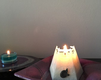White Vegan Pyramid Candle