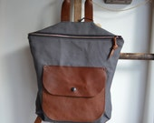 Backpack Canvas Leather  Mini Pack