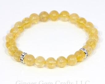 citrine bracelet, beaded bracelet, womens bracelets, handmade bracelets, citrine stones, gemstone bracelets,,november birthstone