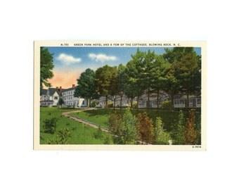 Green Park Hotel - Blowing Rock, NC - Vintage North Carolina Postcard