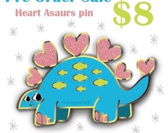 Pre- Order Heart Asaurs Enamel Pin