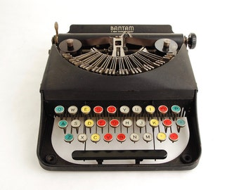 Remington Bantam Typewriter w/ Colored Keys