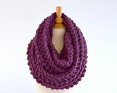ON SALE Chunky Infinity Scarf //The Dresden // in Fig