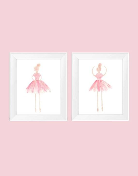 Blush Ballet Prints, Set of 2-11x14