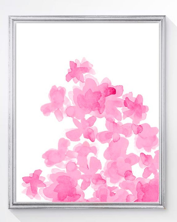 Hot Pink Flower Artwork, 8x10