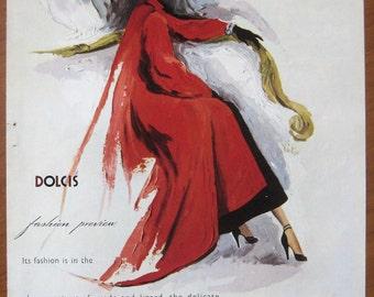 Dolcis, 1949, vintage, ad, original, shoes, fashion, women, English, advertisement, free shipping, paper, ephemera