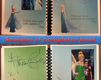 Personalized Disney World 94 Character Autograph Book/ Scrapbook - Digital Copy ***Only Available for a Limited Time!***