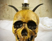Skull Candle Holder for Occult, Skull and Bones, Witchcraft, Necromancy, Gothic Decor