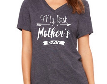 FIRST MOTHERS DAY, Mother's Day gift, first mother's day shirt, new mom gift, mom to be gift, new baby, baby announcement