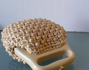 Made in Italy Bead and Raffia Handbag