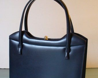 Vintage  Made in Italy Navy Blue Handbag