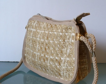 Made in Italy Magid Straw Shoulder Bag