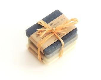 Men soap sampler ,handmade soap, soap sampler, soap set, men soap, Vegan Soap - All natural Soap - Men
