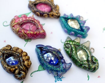 Custom Dragon Eye Pendant, Dragom Jewelry, Fantasy Pendant, Fantasy Jewelry, Dragon Necklace, Fantasy Necklace, Dragon Pendant, Dragon Eye