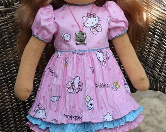 Doll is ready to send! Waldorf doll 15-16  inches Kitty - Caramel - gift for girls