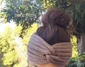 Knotted Turban Knitted Headband, Knit Headband, Knit Beanie, Turban, Cute Turban Headband, Winter Gifts, Holiday Gifts, Holiday Accessories
