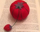 Vintage Tomato and Strawberry Pin Cushion Haberdashery Vintage Linen Sewing
