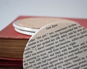 Jane Eyre Cork Coasters, Charlotte Bronte Literary Housewarming Gift, Literary Gifts for Her