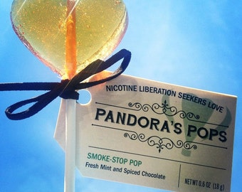 SMOKE-STOP POPS: Lollipops Instead of Smoking. Delicious, organic, herbal gift to replace smoking during transition