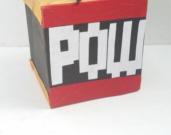 Cube Pinata Mario POW Box Gold and Red | Nintendo Party Theme | Super Mario Birthday | Mario Party Decorations | Fun Party Game
