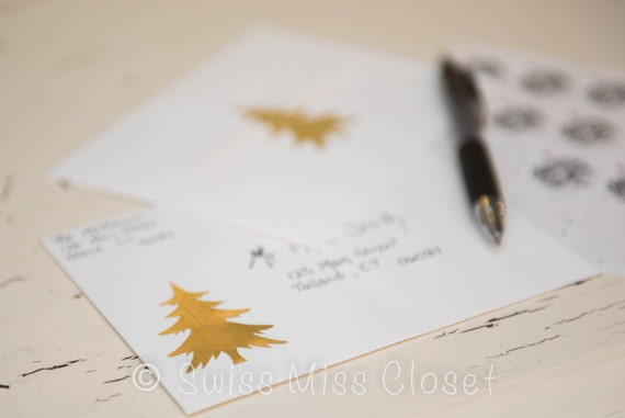 40 2 inch Gold Tree Stickers, Envelope Seals, Party Favors, Party Glasses, Unlimited Possibilities