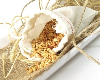 Natural Potpourri Sachet - Lime Citronella scented Sachets - Gifts for Her - Drawer Sachets - Car Air Freshener - 3x5 Muslin Bag