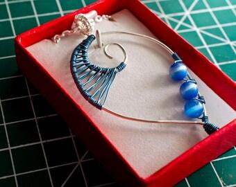 Catseye swirl necklace