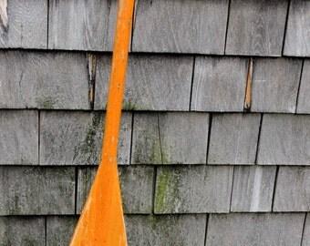 Vintage Canoe Paddle Rustic Cottage Home Distressed & Perfect Patina Bohemian Decor Retro Industrial Americana Decor