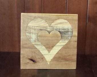 "rustic heart, wood inlay heart, pallet heart, reclaimed pallet wood, wooden heart, 12"" heart decor, rustic, wedding heart, anniversary"