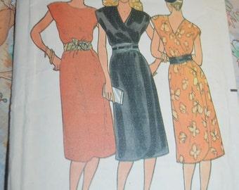 Butterick 6487 Misses Dress Sewing Pattern - UNCUT - Size 14
