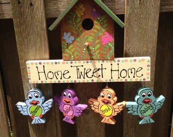 Personalized birdhouse sign